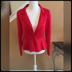 ✨RED BLAZER✨  NEVER WORN... Gorgeous with just about anything. Style Plus Jackets & Coats Blazers
