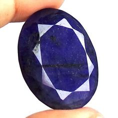 80.20 CT NATURAL EARTH MINED AFRICAN BLUE SAPPHIRE OVAL FACETED GEM FOR PENDANT