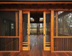 Sliding doors on screen in porch. Love!!