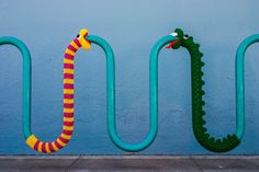 We love yarnbombing street artthat transforms everyday objects into surprising characters. While we expected kids to love these crochet yarnbombs, we were surprised how much these characters took ...