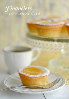 Financiers con lemon curd - Manzana&Canela