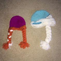 050fcdb8a Frozen Elsa Anna Crochet Hat by SoCozyCrochet on Etsy Elsa Anna