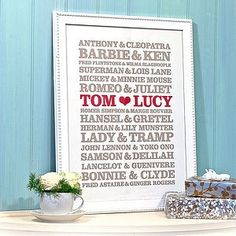 Wedding Gift Idea/Anniversary Gift