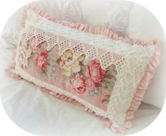 shabby home decor, chic pink accents