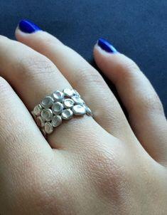 Wide band ring / Weddind women band ring / Circles by shmukies