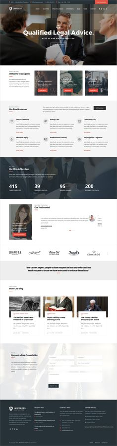 LawPress is a clean and modern design 3in1 responsive #WordPress theme for #advocate, #attorney, barrister, lawyer, legal officer or solicitors website download now➩ https://themeforest.net/item/lawpress-lawyers-attorneys-wordpress-theme/18266613?ref=Datasata