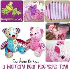 How to sew a memory toy keepsake teddy bear | Funky Friends Factory