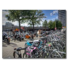 Amsterdam series: A postcard showing the bicycle park opposite Central Station. So many bicycles in one place! It's a great postcard to send friends and family to surprise them with just how many bicycles there are in Amsterdam and how much a part of daily life they are!more Amsterdam itemsmore items with this imageimage code: ambpcs #sights #of #amsterdam #hrbstslr #ambpcs #typical #amsterdam #commuting #netherlands #bicycle #park #thousands #of #bicycles #amsterdam #bicycles #amsterdam ...