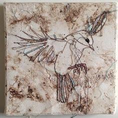 new in collection of Studiodewinkel.nl Birds textile Artwork artist Marloes Duyker