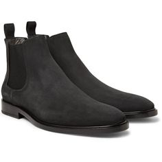 Lanvin Nubuck Chelsea Boots (1.655 BRL) ❤ liked on Polyvore featuring men's fashion, men's shoes, men's boots, mens wide shoes, mens horse riding boots, lanvin men's shoes, lanvin mens boots and extra wide mens boots
