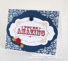 Cardmaking: You're Amazing Card - Stampin' Up! You're Amazing Stamp Set
