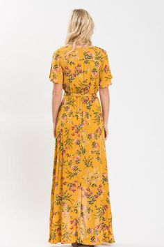 79d769354c We love floral dresses and this yellow high-low maxi dress is no exception!
