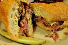 Smoked Prime Rib Sandwich at LA Pines in Slidell, LA - highlighted as a best sandwich on Food TV Network... Diners, Drivins, & Dives