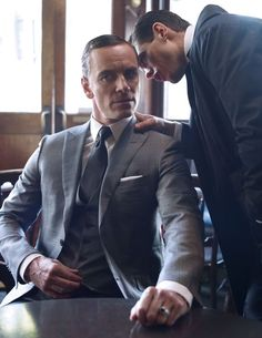 Michael Fassbender and Ryan Pickard from the February 2014 British GQ - photoshoot by Jean Baptiste Mondino