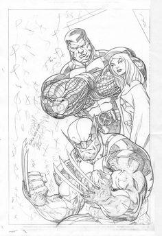 Ed McGuinness on Pinterest   Nova, Red Hulk and Wolverines