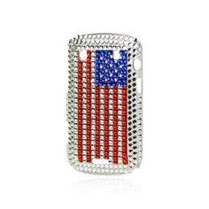 Coque Drapeau USA Strass pour BlackBerry Bold