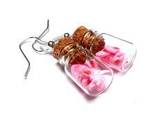Kolczyki KANDYZOWANE TRUSKAWKOWE SERCA różowe w unoprimo na DaWanda.com Sweet Hearts, Etsy