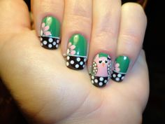 cute owl nail art        Pinning made easy! http://www.pinny.co Pin any photo in any website with a click.