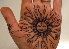 henna pattern sun