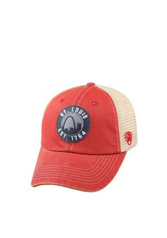 Top of the World St Louis Mens Red Dirty Mesh Adjustable Hat