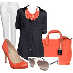 Coral, created by heart2shop on Polyvore