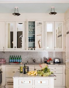 No Window Over The Kitchen Sink Hang A Mirror Good Ideas For Rental Kitchens