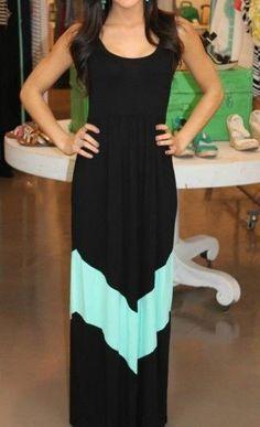 Black solo chevron maxi dress fashion.. to see more click on picture