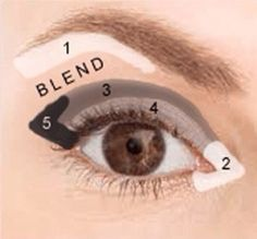 Sometimes in the mornings I don't want to worry about what to do with my eye makeup. This is my go to look those mornings, and here's how to do it. Apply highlighter to brow arch and inner eye corner. This will help to open up the eye and draw light to these areas. With a medium shadow brush, apply a medium color to your whole lid, from right above your crease to your lashes. With a small shadow brush, apply a shade lighter than that from right below your lid to your lashes. Blend the two…