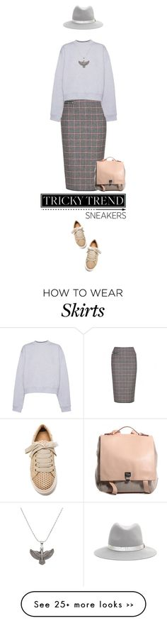 """Tricky Trend: Pencil Skirts and Sneakers"" by missioppa on Polyvore featuring Victoria Beckham, Acne Studios, By Malene Birger, Proenza Schouler, rag & bone, Alex and Ani, TrickyTrend, pencilskirts and sneakers"