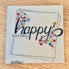 Happy Birthday Drawings, Happy Birthday Girls, Watercolor Birthday Cards, Birthday Card Drawing, Happy Birthday Cards Handmade, Karten Diy, Doodle Lettering, Bday Cards, Creative Cards