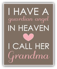 I have a GUARDIAN ANGEL in heaven print personalized art- baby nursery decor- baby wall art- playroom decor -Grandchildren- on Etsy, $11.99