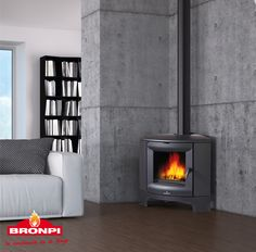 Estufa de leña Bronpi Bremen |  Bronpi wood stove Bremen | Poêle à bois Bronpi Bremen | Stufe a legna Bronpi Bremen | Salamandra de Lenha Bronpi Bremen | Σόμπες ξύλου Bronpi Bremen Design Moderne, Foyer, Stove, Home Appliances, Wood, Bury, Home Decor, Firewood, Templates