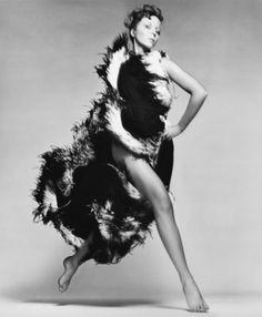 Penelope Tree, evening dress by Lanvin, hair by Ara Gallant, Paris, January 24, 1968