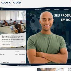 Site Work Able - Site da Work Able - Novo site, em Flash, com gestão de conteúdo feita pelo MAC