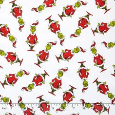 Mr Grinch Fabric on White by The Yard from The Grinch's Wonderland for How The Grinch Stole Christmas 6 by Dr Seuss Le Grinch, Grinch Stole Christmas, Merry Christmas, Christmas Skirt, Christmas Stuff, Christmas Background, Christmas Wallpaper, Christmas Scrapbook, Cute Doodles