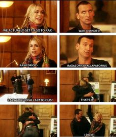 Aww this is actually.. One of the cutest things I've ever seen. The Ninth Doctor and Rose Tyler.