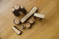 Making Wood Building Blocks: What kid (young or old) ever outgrows building creative things with various kinds of building blocks!  Get the kids off the video screen and get 'em a building!