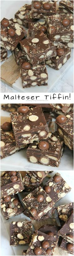 Malteser Tiffin! ❤️ A No-Bake Chocolate Traybake made of all things Delicious. Biscuits, Maltesers, Dark and Milk Chocolate and more making heavenly Malteser Tiffin!