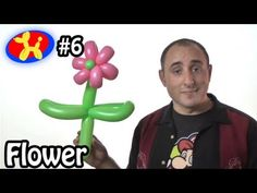 Two Balloon Flower - Balloon Animal Lessons #6 - YouTube