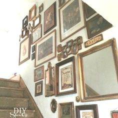Eclectic Gallery Wall Ideas - this is such a creative and inexpensive way to decorate a space - via DIY Show Off