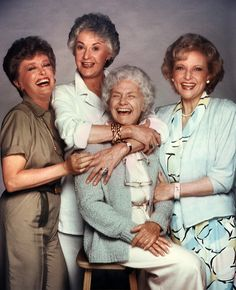 the golden girls this was my favorite show in high school. Sad probably but funny as hell. Loved Sofia ...maybe this is why I have such an old school mentality. When I was watching this other kids my age were watching laguna beach...humm imagine that