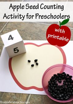 Printable Apple Seed Counting Activity - From ABCs to ACTs