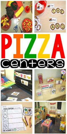 Pizza Centers for Preschool, Pre-K, and Kindergarten (math, literacy, art, fine motor, and dramatic play)