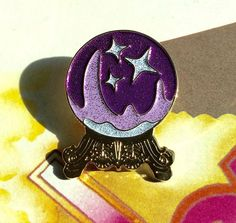 Crystal Ball Enamel Lapel Pin