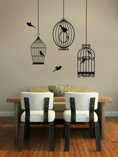 Vintage Bird Cage Wall Sticker Decal Home Vinyl Decals by Wallboss, £24.99