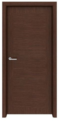 With its careful juxtaposition of vertical and horizontal grains, this walnut door is a fresh and modern take on the classic paneled door. This is a door that can be used generously throughout a house, apartment or office with optimum results. The walnut Walnut Doors, Wood Doors, Flush Door Design, Entry Door With Sidelights, Bedroom Door Design, Flush Doors, Modern Door, Modern Cabinets, Flooring Options