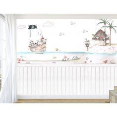 """Mural infantil personalizado """"Piratas en busca de aventuras II"""""""
