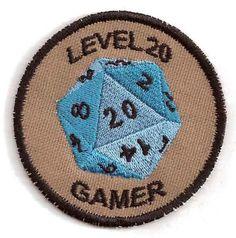 level 20 gamer merit badge
