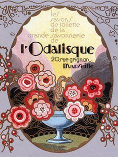For the bathroom - L'Odalisque beauty soap c.1920s  http://www.vintagevenus.com.au/vintage/reprints/info/FAS150.htm