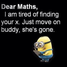 Laughed really hard at this because I am doing this in maths at the moment
